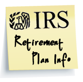 IRS Retirement Plan Info